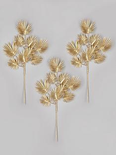 gisela-graham-set-of-3-gold-palm-leaf-spray-tree-picks