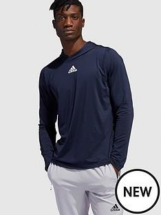 adidas-3-stripe-long-sleeve-hooded-t-shirtnbsp-navynbsp