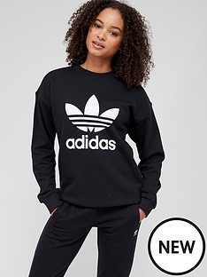 adidas-originals-trefoil-crew-sweat-black