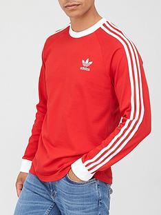 adidas-originals-3-stripe-long-sleeve-t-shirt-red