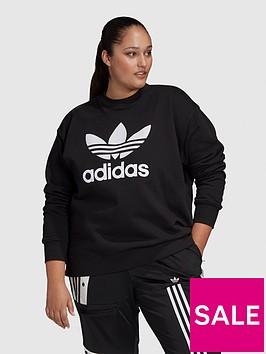adidas-originals-plusnbsptrefoil-crew-sweat-black