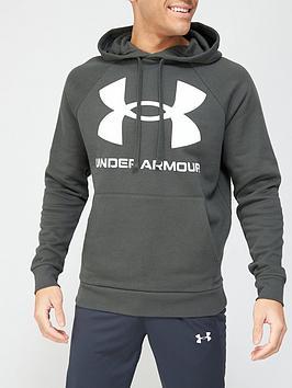 under-armour-rival-fleece-big-logo-hoodie-khaki