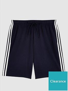adidas-plus-size-essential-3-stripe-shorts-navy