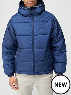 adidas-padded-hoodednbspcoat-navy