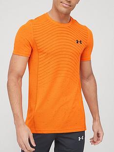 under-armour-seamless-wave-t-shirt-orangeblack