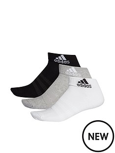adidas-3-pack-ofnbspcushioned-ankle-socks-blackgrey