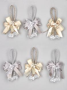 set-6-bow-and-jewel-drop-christmas-tree-decorations--nbspchampagnesilver