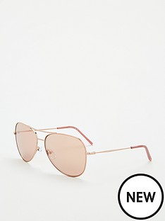 dkny-pilot-sunglasses-rose-gold