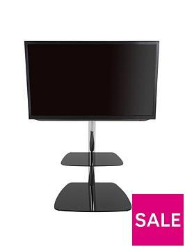 avf-iseo-600-tv-unitnbsp-nbspchromeblack-glass-fits-up-to-55-inch-tv