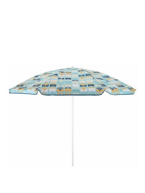 volkswagen-vw-campervan-family-beach-parasol