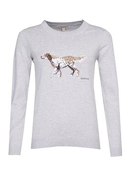barbour-saddle-dog-print-knit-top-grey
