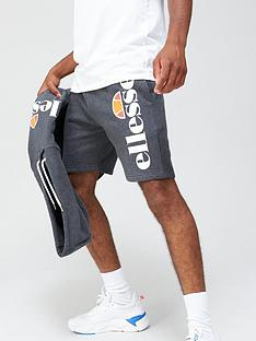 ellesse-bossini-shorts-dark-grey-marl