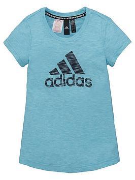 adidas-junior-girls-t-shirt-bluenbsp