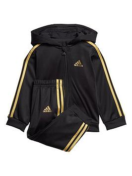 adidas-infants-shiny-full-zip-hooded-tracksuitnbsp--black