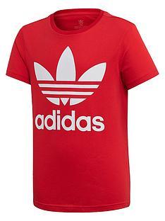 adidas-originals-childrens-trefoil-t-shirt-red