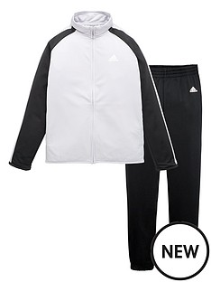 adidas-younger-boys-tracksuit-greyblack