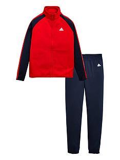 adidas-boys-tracksuit-redblack