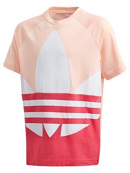 adidas-originals-childrensnbspbig-trefoil-t-shirt-coral