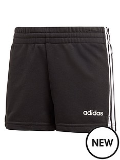 adidas-girls-3-stripes-shorts-black
