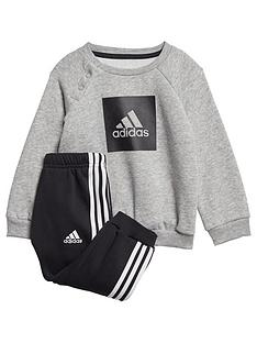 adidas-infants-threenbspstripe-logo-sweat-andnbspjogger-grey-heather