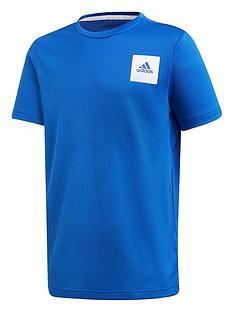 adidas-junior-boys-training-t-shirt-blue