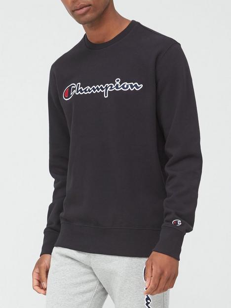 champion-crew-neck-sweatshirt-black