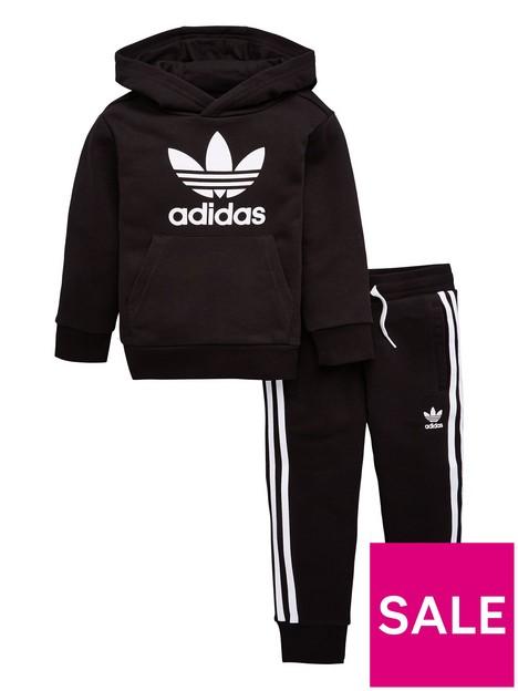 adidas-originals-trefoil-hoodie-set-black
