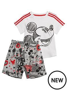 adidas-infantnbspmickey-mouse-summer-set-whitegrey