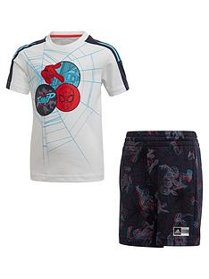 adidas-boysnbspspider-man-t-shirt-and-shorts-set-multi