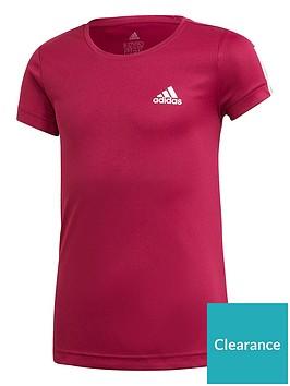 adidas-girls-training-t-shirt-purple