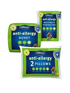 silentnight-anti-allergy-double-bedding-bundle-ndash-contains-2-pillows-mattress-protector-and-105-tog-duvet