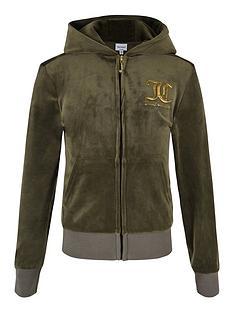 juicy-couture-girls-velour-zip-through-hoodie-khaki