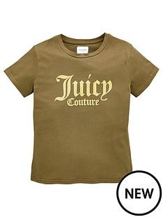 juicy-couture-girls-short-sleeve-logo-t-shirt-khaki