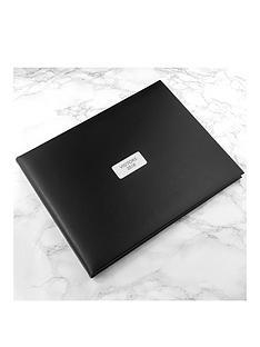 personalised-black-leather-visitors-book