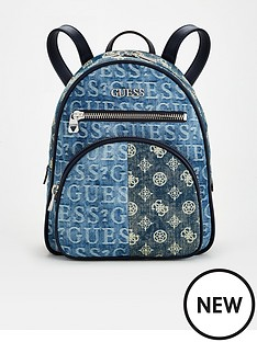 guess-new-vibe-logo-denim-backpack-blue