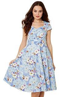 joe-browns-stunning-vintage-print-dress-light-blue