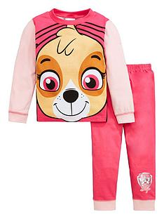 paw-patrol-girlsnbspskye-novelty-long-sleeve-pjs-pink