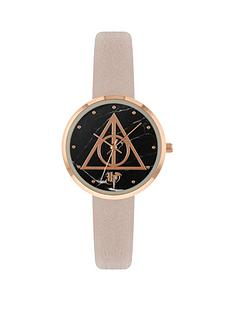 harry-potter-harry-potter-black-and-pink-dial-pink-faux-leather-strap-watch