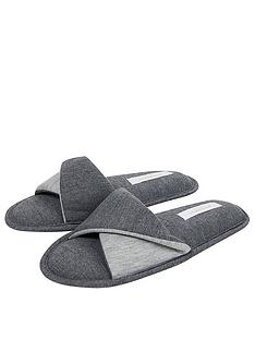 accessorize-take-me-away-jersey-mule-slipper-grey