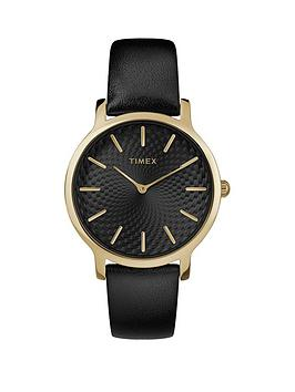 timex-timex-transcend-black-sunray-and-gold-detail-dial-black-leather-strap-watch