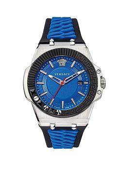 versace-chain-reaction-blue-date-dial-blue-and-black-silicone-strap-mens-watch