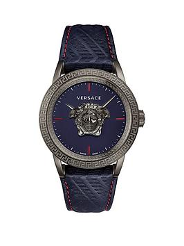 versace-palazzo-empire-blue-sunray-dial-blue-leather-strap-mens-watch