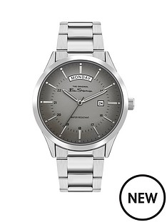 ben-sherman-ben-sherman-grey-sunray-daydate-dial-stainless-steel-bracelet-mens-watch