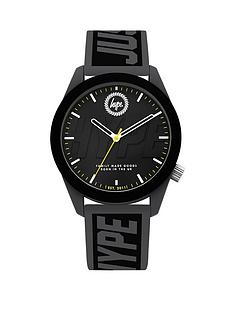 hype-hype-black-dial-black-and-grey-just-hype-print-silicone-strap-kids-watch