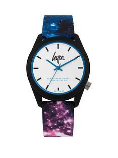 hype-hype-white-dial-galaxy-print-silicone-strap-kids-watch