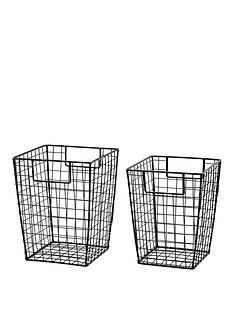 set-of-2-black-wire-square-storage-baskets