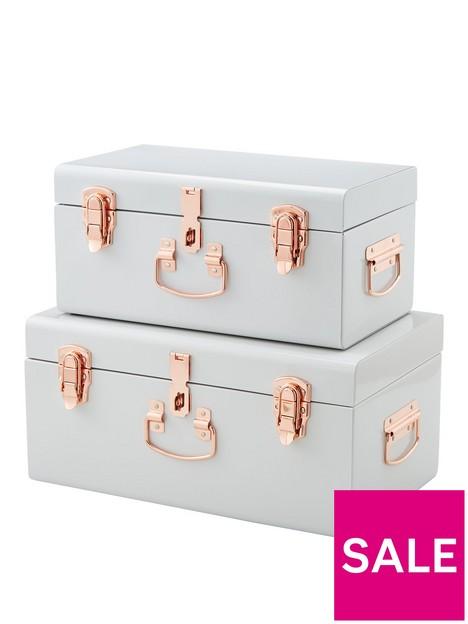 set-of-2-metal-trunks