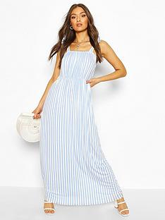 boohoo-tie-shoulder-elasticated-waist-maxi-dress-whiteblue