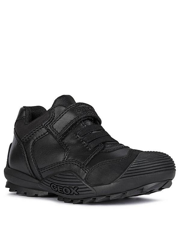 Cálculo Pekkadillo Aislar  Geox Boys Savage Leather Strap and Lace School Shoe - Black |  littlewoodsireland.ie