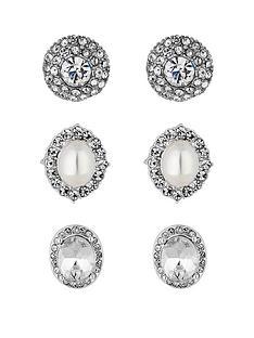 mood-silver-plated-three-pack-pretty-stud-earrings